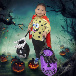 Wholesale Candy Color Accessories - 57*6.5*30Cm Halloween Accessories Candy Hand Bag Palm Shape Portable Hand Sack Novel Toys Kids Halloween Candy Bags Mixed Color