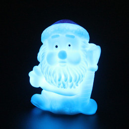Wholesale Led Color Changing Snowman - LED decorative Christmas Santa claus battery operated color changing led night light Xmas Decoration Christmas Lights