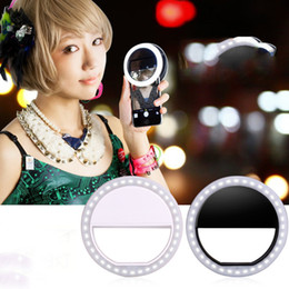 Wholesale Tablet Phones Camera Flash - Wholesale- 2016 New High Quality Useful Womens LED Ring Flash Fill Light Selfie Clip Camera For Smart Phone Tablet