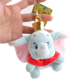 """Wholesale Animal Party Games - Top New 4"""" 10CM Dumbo Elephant Stuffed Doll Anime Collectible Animals Dolls Keychains Pendants Party Gifts Soft Plush Toys"""