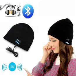 Wholesale Warm Headbands For Women - 2016 New Soft Warm Beanie Gorro Hat Wireless Bluetooth Smart Cap Headset Headphone Speaker Mic Bluetooth Hat Men Women Sports Hat