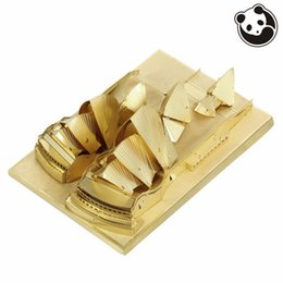 Wholesale 3d Puzzles Chinese House - Pandamodel@Construction Famous Buildings Over The World 3D Metal Model Puzzles SYDNEY OPERA HOUSE Chinese Metal Earth brass