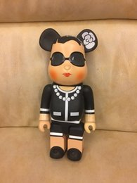 Wholesale Lady Dolls - Hot Selling11inch 400% bearbrick luxury Lady Famous style bear brick with Classic logo C doll for gift with logo box 28cm