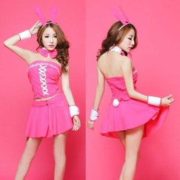 Wholesale Adults Socks - Free shipping new sexy lingerie adult sexy cute cat female rabbit uniforms extreme temptation suit real people sm underwear Sao Socks