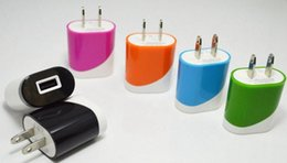 Wholesale Power Bank Blackberry - Dual Colors 5V 1A USB Wall Charger AC Power Adapter For iPhone 7 Samsung S7 All Smartphones Tablet iPad Power Bank