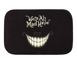 Wholesale Funny Floor Mats - Funny Laugh Mouth Rug Mat Coral Fleece Door Mat Non-slip Floor Mat Suitable to Various Indoor Area 40*60cm