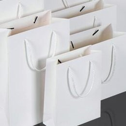 Wholesale Custom Gift Wrapping Paper Wholesale - Customsize kraft paper bag & Festival gift package fast-Tempo shopping bag Fashionable white paper bag with print LOGO D006