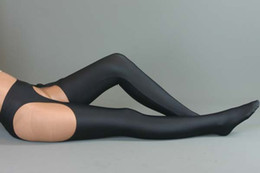 Wholesale Catsuit Custom - Free Shipping 2015 new Arrivals zentai spandex catsuit sexy black long stocking For Halloween Costumes Plus Size Custom