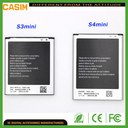 Wholesale S7562 Batteries - Battery For Samsung S4 Mini S3 Mini batteries Galaxy S4 mini i8190 i8160 S7562 i9190 internal replacement batterys