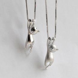 Toptan-Yeni Moda Güzel Gümüş Kaplama Kolye Tiny Sevimli Kedi Kolye Odd Fantezi Takı Charm Kolye Kolye nereden