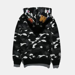 Светящиеся толстовки онлайн-Спортивная одежда пальто Бегун спортивный костюм пуловер флис толстовка Crewneck птица OVO Дрейк черный хип-хоп Stusay балахон мужчины акула рот световой