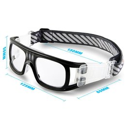 Wholesale Eyewear Soccer Glasses - Wholesale- 2017 Protective men Sports Goggles Eyewear Glasses Gafas Oculos for Basketball Soccer Rugby Football Tag Eyeglasses