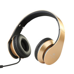Wholesale Tablet Pc Laptop Android - AILIHEN I60 Wired Headphones with Microphone Foldable On Ear Headsets for iPhone,Android Devices,Laptop, PC,Tablet Noise Isolating Earphones