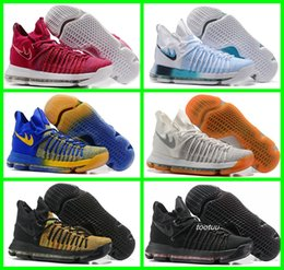 Wholesale Tables Ball Tennis - New Air Zoom KD 9 Mens Basketball Shoes Sneakers KD9 Oreo Grey Wolf Kevin Durant 9s 9 Cheap Trainers Basket Ball Sports Shoes Sneakers