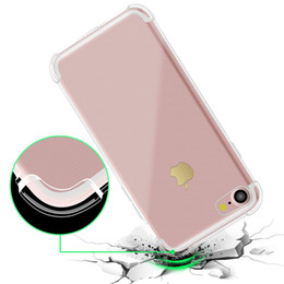 Wholesale Galaxy Note Shock Case - Soft TPU Silicone Clear Cases For IPhone X 8 7Plus 6S Anti Shock For Galaxy Note 8 S8 S7 Edge Oneplus Moto LG