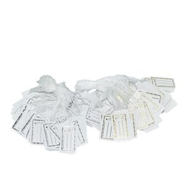 Wholesale Tags Tie String - Argositment Sale-500 Pack Jewelry Display Tie-on Price Tag Label Gold White Jewelry String Price Tags Silver Jewelry Supplise
