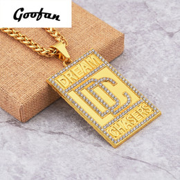 Wholesale Jewelry Initials Men - 2017 New Arrival Goofan Fram Dream Chasers Pendant Necklace Alloy Fashion Jewelry For Men Women Gift AN310