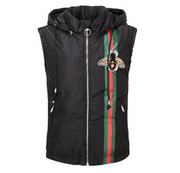 Wholesale Women Brand New Waistcoat - New Fashion women and Men's Winter Down Jacket Vest Thicken warm Outerwear waistcoat 3D snake Italy Brand G Man Hooded Coat