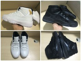 Wholesale New Basketball Shoes For Men - 2018 Traderjoes With Box New Mens Basketball Shoe 11S Black Devil OVO White Black Cat Gym Sneakers for Men Size US7-US13