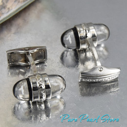 Wholesale Design Inside - High Quality Best Design mbcufflinks AAA+ Crystal and White Logo Inside Famous Cufflinks