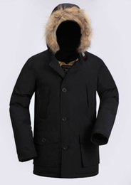 Wholesale Goose Down Hats - 2018 Latest Fashion Woolrich Brand Men's Arctic Anorak Down jackets Man Winter goose down jacket 90% Outdoor Thick Parka Coat warm outwear