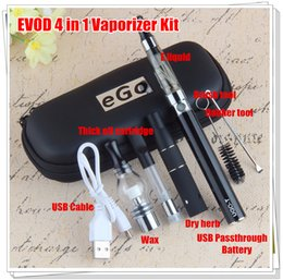 Wholesale Liquid Cartridge - New Vaping Herbs All in one I Dry Herb Vaporizer E Liquid Wax Atomizer CE3 510 cartridge UGO 4 in 1 Vapes Pen eGo CE4 Starter Kit E cigs