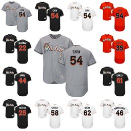 Wholesale Dan Black - 2017 Miami Marlins Wei-Yin Chen Adam Conley Tom Koehler David Phelps AJ Ramos Dan Straily Jose Urena Flexbase Onfiled Jersey