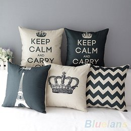 Wholesale Cushion Factory - Retro Home Decorative Cotton Linen Blended Cushion Cover Crown Throw Pillow Case 4FZR high quality factory price CC005