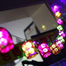 Wholesale Led Atmosphere - Wholesale- 2.5m 10led Happy Atmosphere Wooden Lantern LED String Light Creative Gift for Christmas Festival Celebrate Battery Powered Light
