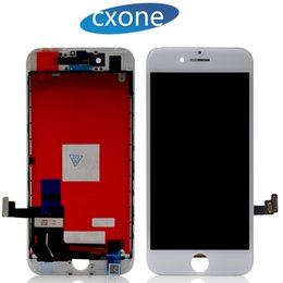 Wholesale Digitizer Screens - Grade AAA LCD Display Touch Digitizer Complete Screen Full Assembly Replacement for iPhone 7 7G Plus with Frame Free DHL