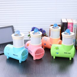 Wholesale Desktop Usb Air Conditioner - Bladeless Desktop Fan Mini USB Fragrance Fanner Air Conditioner Electric Fans With Night Light Insect Repellent Fanners Lovely 21sx A R