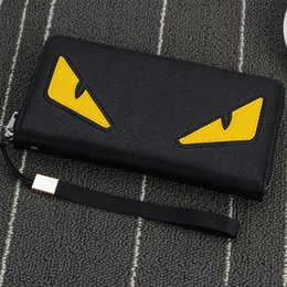 Wholesale Purse Wholesalers - Wholesale- 2016 New brand men's wallet zipper long phone clutch bag fashion high quality guarantee eyes purse clutch wallet free shipping