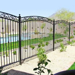 Wholesale we can offline transactions Iron Door Garden Buildings Patio Lawn Garden Home Arches Arbours Patio fence Trellis Gates Garden Buildings no11