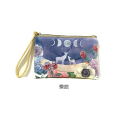 Wholesale Kids Canvas Art - Wholesale- Canvas Wallet Cartoon Cute Cross Section Square Retro Small Coin Purse Fresh Art Coin Bag Kid Purse Small Wallet For Kids
