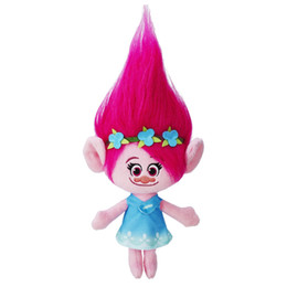 Wholesale Inflatable Plush Toys - 23cm New Arrival Movie Trolls Plush Toy Poppy Branch Dream Works Stuffed Cartoon Dolls The Good Luck Trolls Christmas Gifts