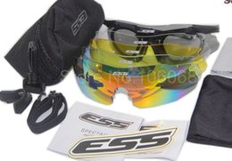 Wholesale Ice Sunglasses - ESS ICE 2.4 Military Goggles for Men & for Women, 3 Lenses & 5 Lenses RX Inserts Bulletproof Army Sunglasses Ballistic Eyeshields