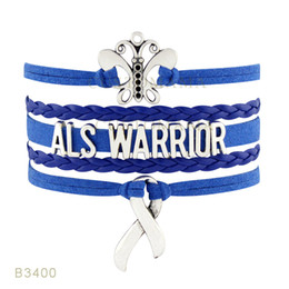 Wholesale Love Warriors - 10 PCS Lot) Infinity Love Als Warrior Brain Injury Cancer Sucks Go Gray Cure Diabetes Brain Tumor Ovarian Awareness Butterfly Ribbon Charm
