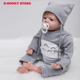 Wholesale Body For Doll - Newborn Full Body Silicone Bebe Doll Reborn 22 Inch Vinyl Realistic Collectible Boy Doll Reborn Baby Simulator Dolls For Sale