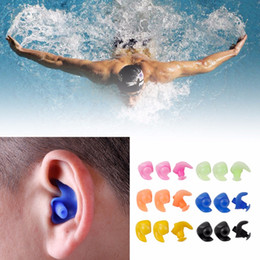 Wholesale Earplug Silicone - A Pair Of Adult Silicone Waterproof Swimming Earplugs Diving Screw Shape Earbuds 6 colors