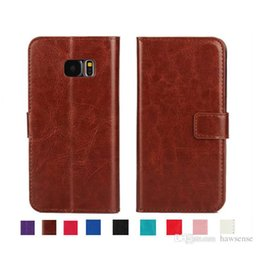 Wholesale Hard Wallets - Wallet Leather Case For Samsung GALAXY S7 S8 Edge S6 J5 A5 A7 2016 On5 C7 & Stand Card Pocket Hard Skin Flip Cover Free Shipping