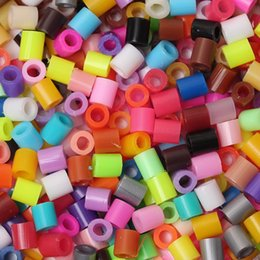 Wholesale Cylinder Toy - DoreenBeads 5mm 1000pcs Randomly Mixed Hama Fuse Beads DIY toy Puzzle kids child Intelligence Educational Toy Beads Cylinder