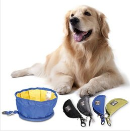 Wholesale Feeding Bowls For Dogs - 19*9.5Cm Pet Supplies Dog Bowl For Outdoor Traveling Camping Portable Foldable Waterproof Bowls Pet Bowl Feeding Dishes KKA2342