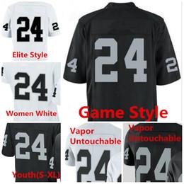 Wholesale Grey Women Football Jerseys - Mens 2017 New Women Youth Kids 24 Marshawn Lynch Jersey Derek Carr 52 Khalil Mack 89 Amari Cooper Shirt Black White Football Stitch Jerseys