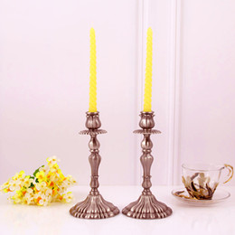 Wholesale Roses Stick - Rose Floral Black Centerpieces Tall Candelabras Centerpiece Gothic Table Antique Gift wraped Holders for Wedding Tables Decorations