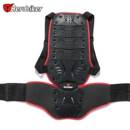 Wholesale Motorcycle Body Back Armor Spine - HEROBIKER Unisex Motorcycle Racing Bike ATV Body Armor VEST Black Motorcycle Back Support Effectively Protect The Back And Spine