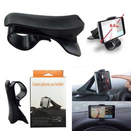 Wholesale Display Stands For Phones - Universal Creative Car Steering Wheel Cradle Cellphone GPS Navigation Bracket HUD Display For Mount Stand Phone Holder Clip Safe Adsorption