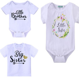 Wholesale Children S Matching Clothes - infant Family Matching Outfits girls boys Baby Kids Clothing summer Children 's letter printed cotton Rompers T - shirt 1206