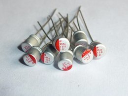 Wholesale Electrolytic Capacitor Motherboard - Wholesale- 10pcs 10uF 10V FUJISTU FP 4x5mm For Motherboard 10V10uF Solid Electrolytic Capacitors