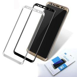 2019 galaxia s6 borde más templado completo Para Samsung galaxy S6 edge plus S7 Edge S8 S8 plus A3 3D cubierta completa de cristal templado Protector de pantalla dhl SSC042 galaxia s6 borde más templado completo baratos