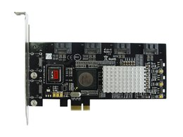 Wholesale Controller Software - PCI-E to 4 port SATA II PCIE Software RAID Controller Card Bundle with Low Profile Bracket SIL3124 Chipset raid 0 1 5 10